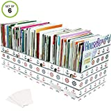 Evelots Set of 6 Magazine File Holders Desk Organizer, File Storage with Labels, Nautical