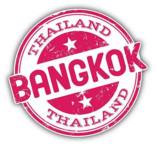 "KW Vinyl Magnet Bangkok Thailand Grunge Travel Stamp Truck Car Magnet Bumper Sticker Magnetic 5"""