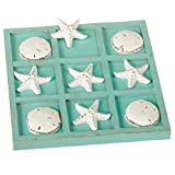 Midwest CBK Decorative Sea Shell Tic-Tac-Toe Game Set with 9'' Board