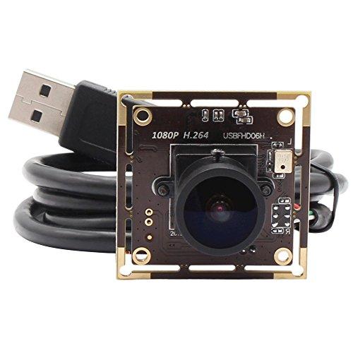 ELP Sony IMX322 Sensor Mini Usb Camera Module HD 1080P (170 degree) by ELP