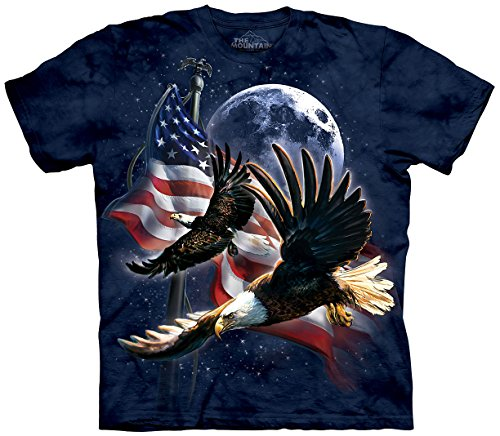Price comparison product image The Mountain Eagles Freedom Flight Night Moon Adult T-Shirt (XX-Large)