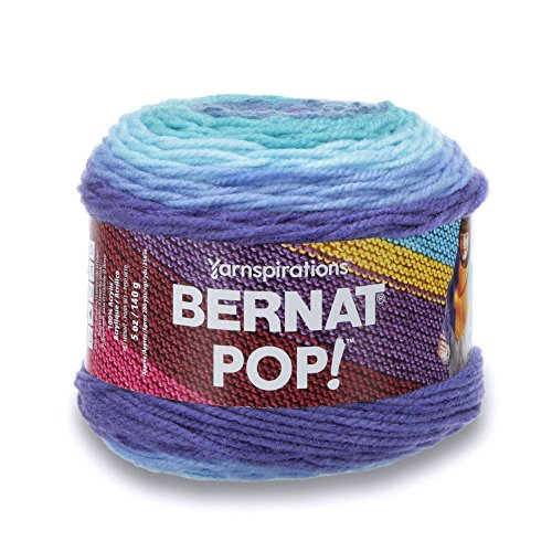 - Bernat POP!, 5oz, Guage 4 Medium, 100% Acrylic, Blue Blaze