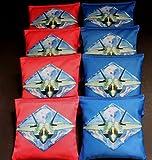 US AIR FORCE MILITARY THUNDER BIRDS 8 ACA Regulation Handmade Cornhole bags B238