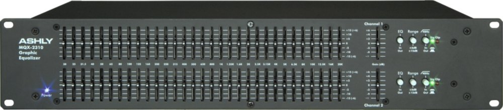 Ashly Audio MQX-2310 Dual 31-Band Graphic Equalizer