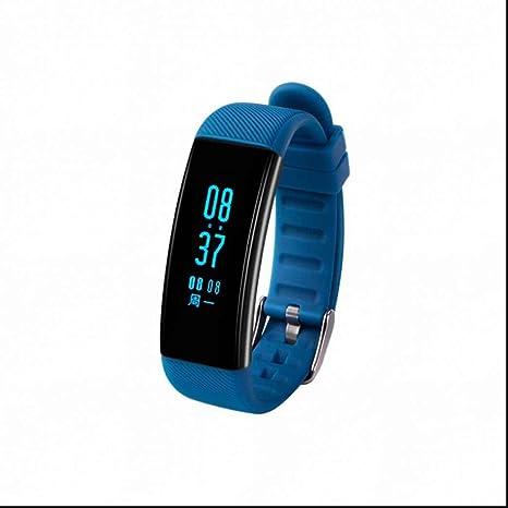 Pulsómetro Reloj Deportivo Monitores de actividad Podómetro Resistente al Agua Pulsera con Tensiómetro Monitor de Dormir