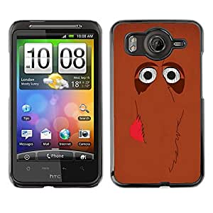 A-type Arte & diseño plástico duro Fundas Cover Cubre Hard Case Cover para HTC G10 (Cute Mammoth Elephant Cartoon Brown)
