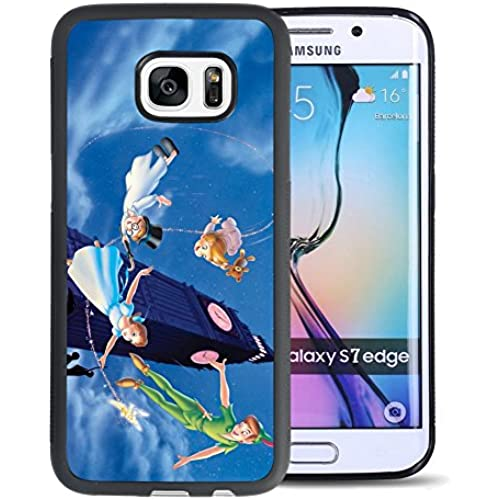 Peter Pan Samsung Galaxy S7 edge Case, Onelee[Never fade] Disney Peter Pan Samsung Galaxy S7 edge Case Black Soft Sales