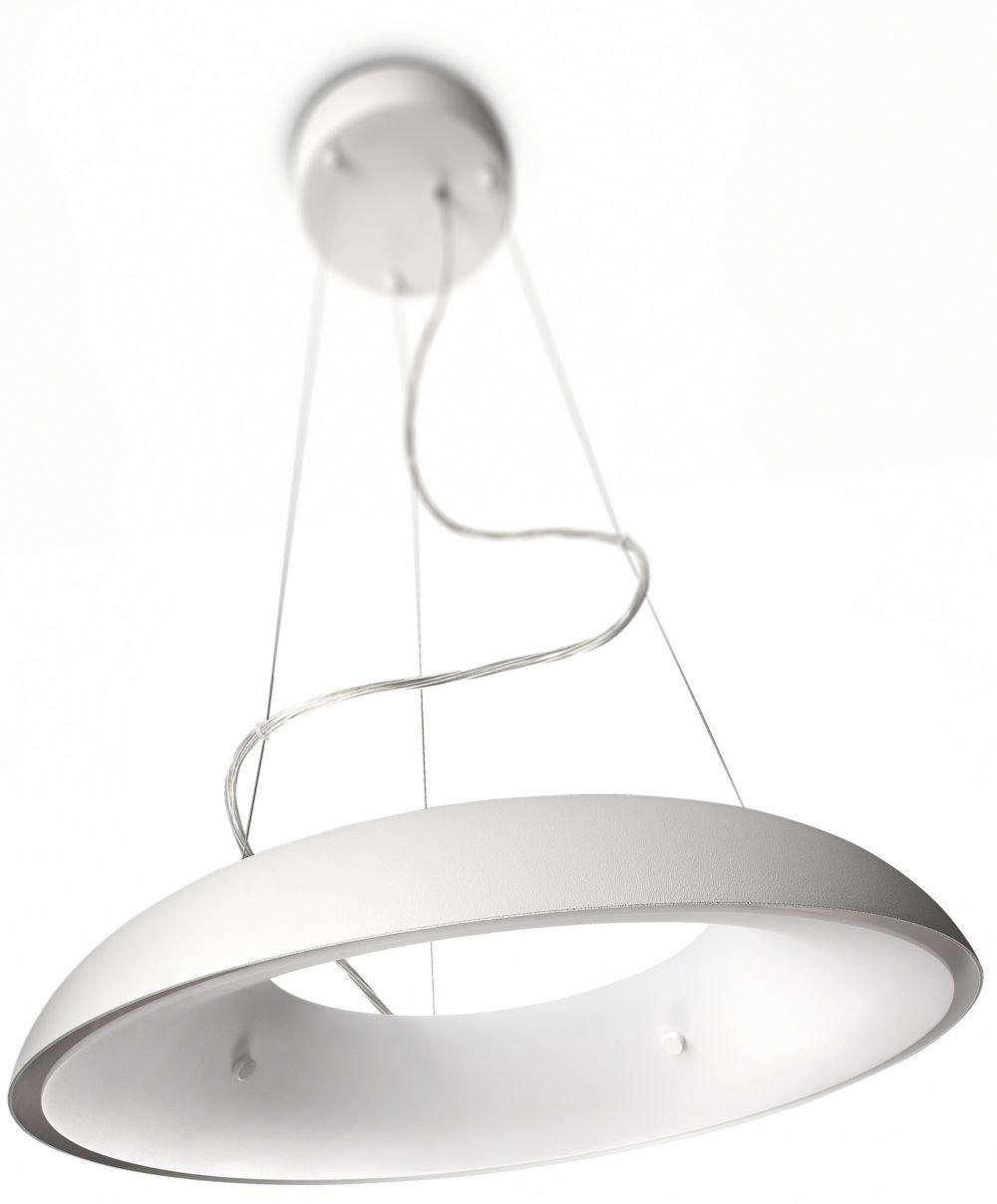 Philips myLiving Amaze Energiespar- Pendelleuchte mit 60W, EEK B, inklusive Leuchtmittel, 1-flammig, Weiß, 402333116