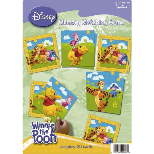 Pooh Memory Game (Pooh and Friends Party Supplies Memory Matching Game)