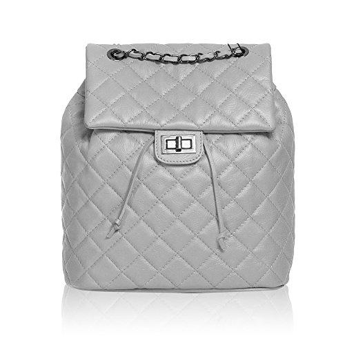 #MYITALIANBAG 71077 - Bolso mochila de Otra Piel para mujer gris