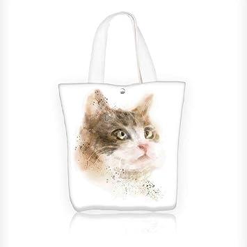 Bolso de mano de lona para gatos, gatos, madres, gatos en ramas de árbol y gatitos ...