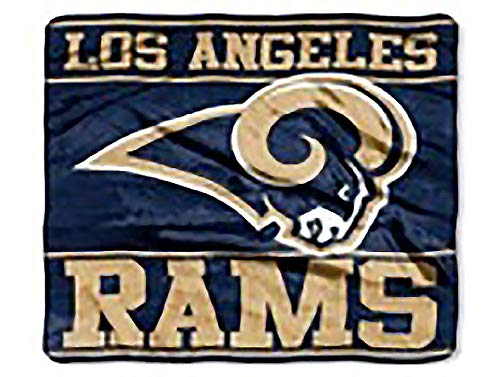 - NFL Football Los Angeles Rams Royal Plush Rachel King Size Throw Blanket