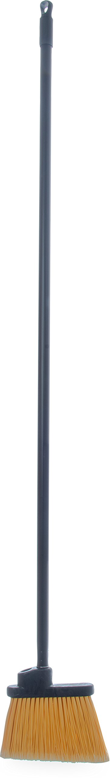Carlisle 36861L00 Duo-Sweep Lobby Angle Broom, 48'' Handle, 6.5'' Broom Head, Black (Pack of 12) by Carlisle