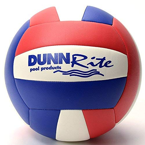 Dunnrite Red/White/Blue Pool or Beach Volleyball by Dunnrite Products