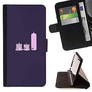 BullDog Case - FOR/HTC One M9 / - / Candle Light Dat E- Funny /- Monedero de cuero de la PU Llevar cubierta de la caja con el ID Credit Card Slots Flip funda de cuer