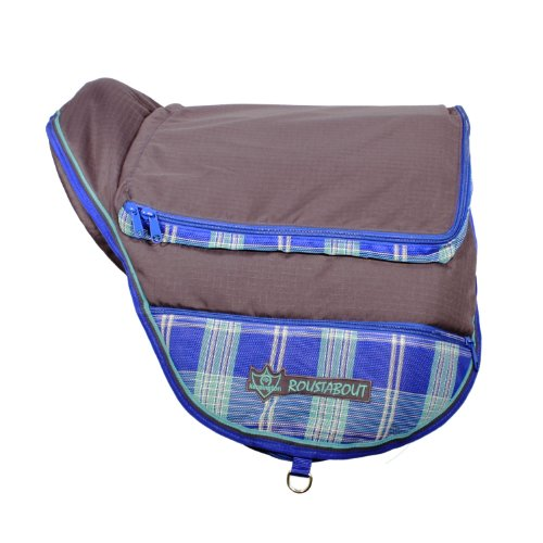 Kensington KPP Roustabout A/P Saddle Carrying Bags, Blue Ice Plaid, One Size (1 Seat Bag)