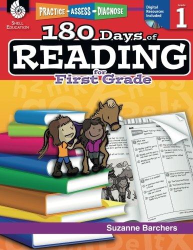 180 Days of Reading for First Grade (Ages 5 - 7) Easy-to-Use First Grade Workbook to Improve Reading Comprehension Quickly, Fun Daily Phonics Practice for 1st Grade Reading (180 Days of Practice) cover
