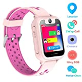 Kids Smart Watch Phone, SZBXD 1.44' GPS Tracker Smartwatch Touch Camera Games Flashlight SOS Alarm Clock Sports Wrist Watch Christmas Birthday Gifts for Girls Boys Children (Pink 1)