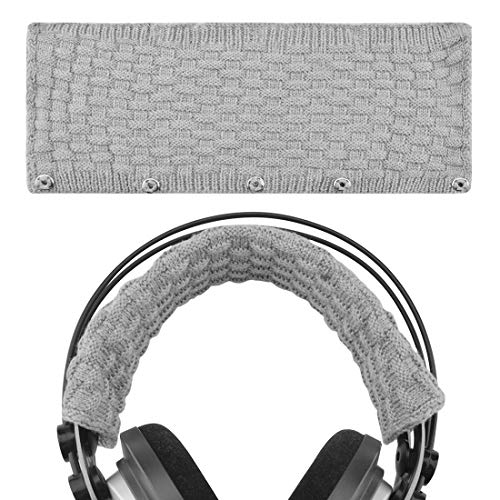 Geekria Headphone Headband Compatible with Logitech, Turtle Beach, Panasonic, V-Moda, Denon, AKG, Sennheiser, Sony, Audio-Technica Replacement Cover/Comfort Cushion/Top Pad Protector (Gray L)