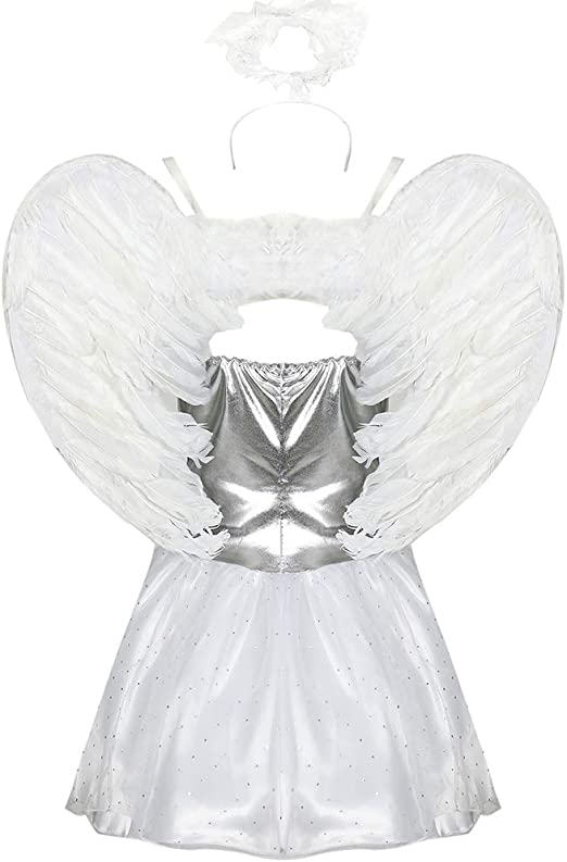 CAGYMJ Cosplay Dress Party Mujer,Sexy Vampiro Ángel Alas Tubo ...