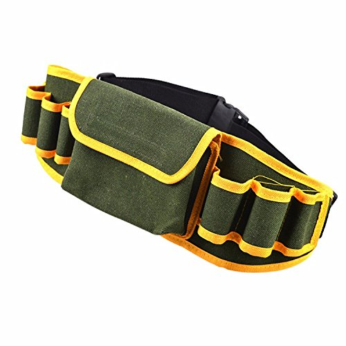 Multifunction Hardware Mechanic Electrician Canvas Tool Bag Safe Belt Utility Kit Pocket Pouch Organizer Bags