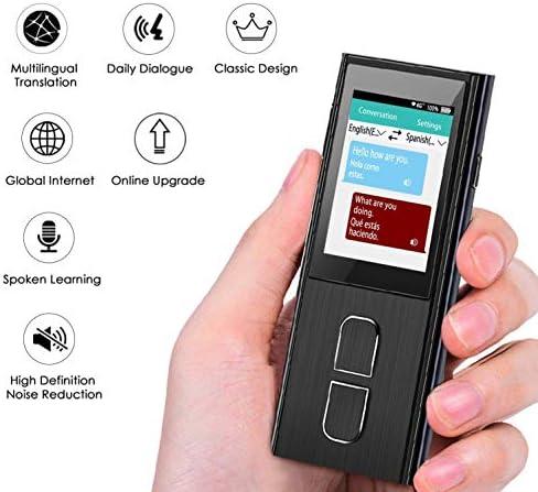 M3M スマート言語翻訳デバイス、インテリジェントハンドヘルド音声同時翻訳は、ビジネス学習、旅行、ショッピングのための36の言語をサポートしています (黒)