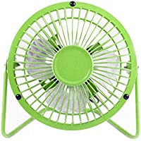 Mini High Velocity Personal Fan USB Powered Desktop Desk Fans Aluminum Leafage Portable Ultra-Quiet Cooling Fans for PC Laptop Notebook Power Bank Home/Office,Traveling,Camping (18﹡20cm, Green)