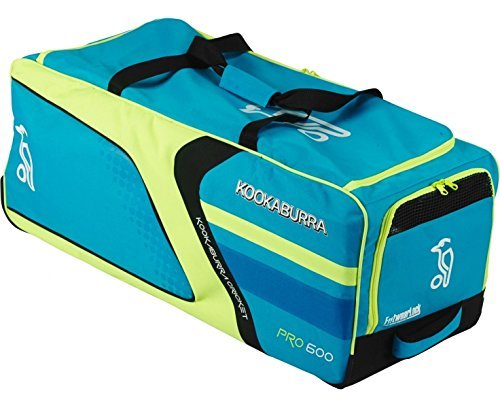 Kookaburra Pro 600 Wheelie B/Y Cricket Bag - Blue by Kookaburra by Kookaburra