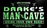 qd1458-g DRAKE's Man Cave Soccer Football Bar Neon Beer Sign