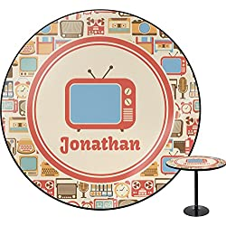 RNK Shops Vintage Gadgets Round Table - 24 (Personalized)