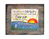 Serenity Prayer, Wood Burned quote sign