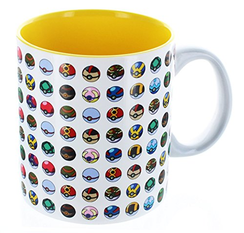 Pokemon Multi Pokeball 20oz White Printable Coffee Mug