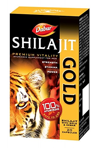Dabur Shilajit Gold   20 caps   for strength, stamina  amp; power Vitamins, Minerals   Supplements available at Amazon for Rs.310