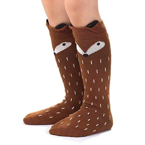 One size Assorted 8 pairs Value Sport Kids Children Girls Cotton Knee High Socks