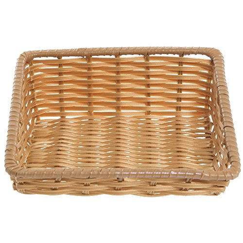 Tapered Storage Basket - Tapered Storage Basket, Natural Color, Rectangular - 11 1/2