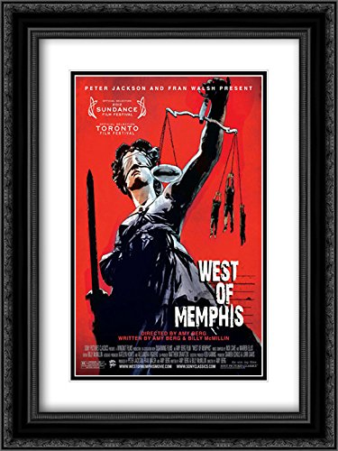 West of Memphis 18x24 Double Matted Black Ornate Framed Movie Poster Art - Galleria Memphis