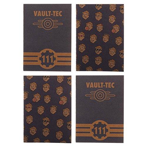 Fallout Vault-Tech Pocket Journals - Set of 4 15 cm x 10 cm notebooks