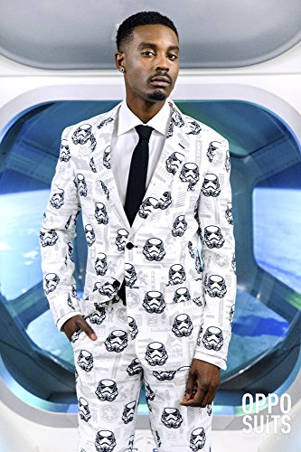 OppoSuits Mens 'Stormtrooper' Party Suit and Tie by, 38 by Opposuits (Image #5)