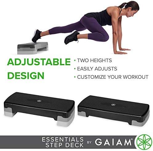 gaiam Essentials - Plataforma de Ejercicio aeróbico para escalones, Plataforma de Entrenamiento con Altura Ajustable y Superficie Texturizada Antideslizante 6