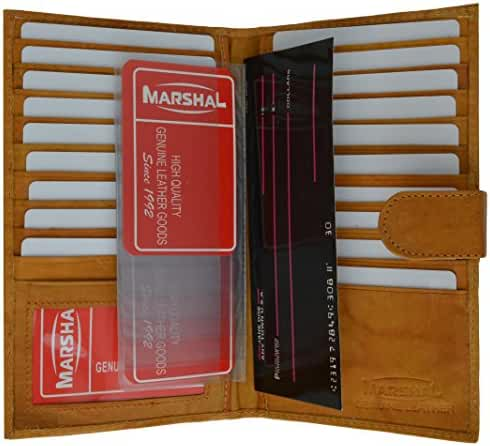 Marshal Genuine Leather Bi-fold Card Holder #1629CF