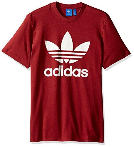 Adidas Originals Mens Trefoil Tee  Mystery Red  Medium
