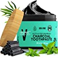 Activated Charcoal Toothpaste Teeth Whitening Natural Black Bamboo Charcoal Powder Prime Magic Tooth And Gum Cleaning Paste And Beauty Coconut Oil Best For Kids Toothbrush Above Organic Whitener Vegan