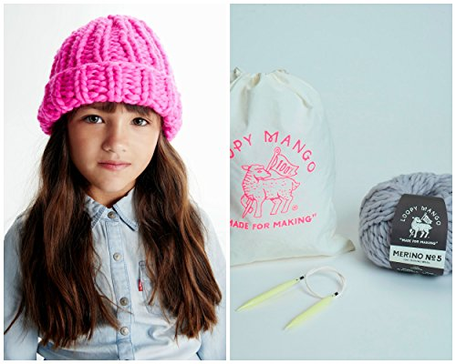 Loopy Mango DIY Kit - Mini Beanie 5-8 years old (Bordeaux) by Loopy Mango