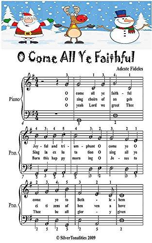 O Come All Ye Faithful Easiest Piano Sheet Music Junior Edition - Faithful Adeste Fideles Sheet Music