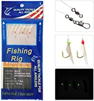 Sabiki Saltwater Fish Lure Bait Rig Hook Tackle Luminous Beads Feather 3KindFLHK
