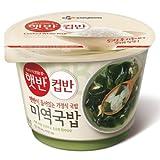 korean rice soup - CJ Korean Cupbahn Hetbahn Microwavable Rice Bowls (Seaweed Soup)
