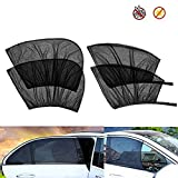 4 Pack Car Window Shades Front and Rear Window Sun Shades Protect Baby & Pets from Harmful UV Anti-Mosquito Universal Fit!