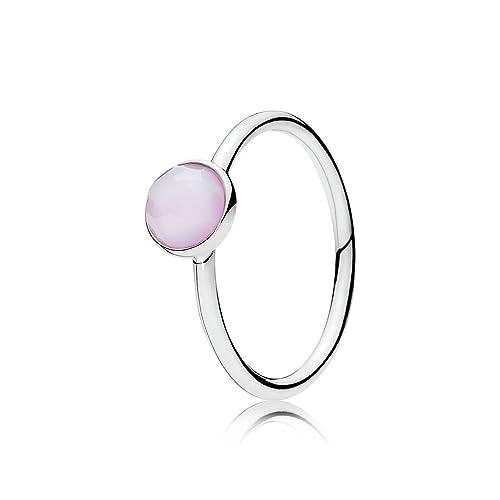 pandora anillo cuarzo rosa
