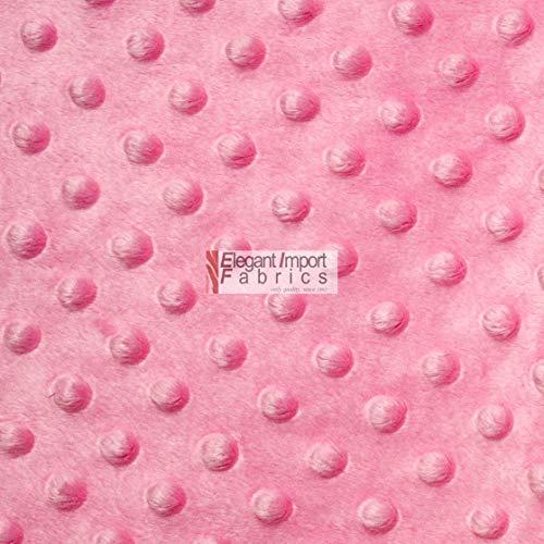 (Minky MINKEE Chenille DOT Soft Fabric Cuddle 38 Color 60