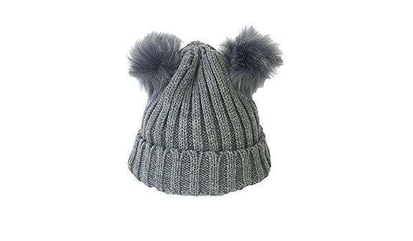 63ff4a86c02e1 Fashion Culture Women s Knit Double Pom Pom Beanie Hat